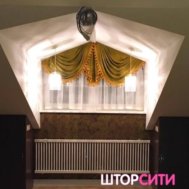 Тюлевые шторы с ламбрекеном. Пошив штор в ателье Штор Сити