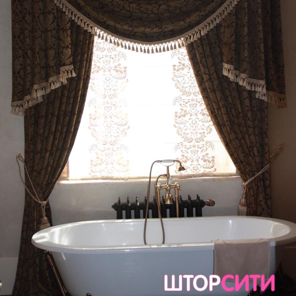 Шторы ампир для ванной. Пошив штор в ателье Штор Сити