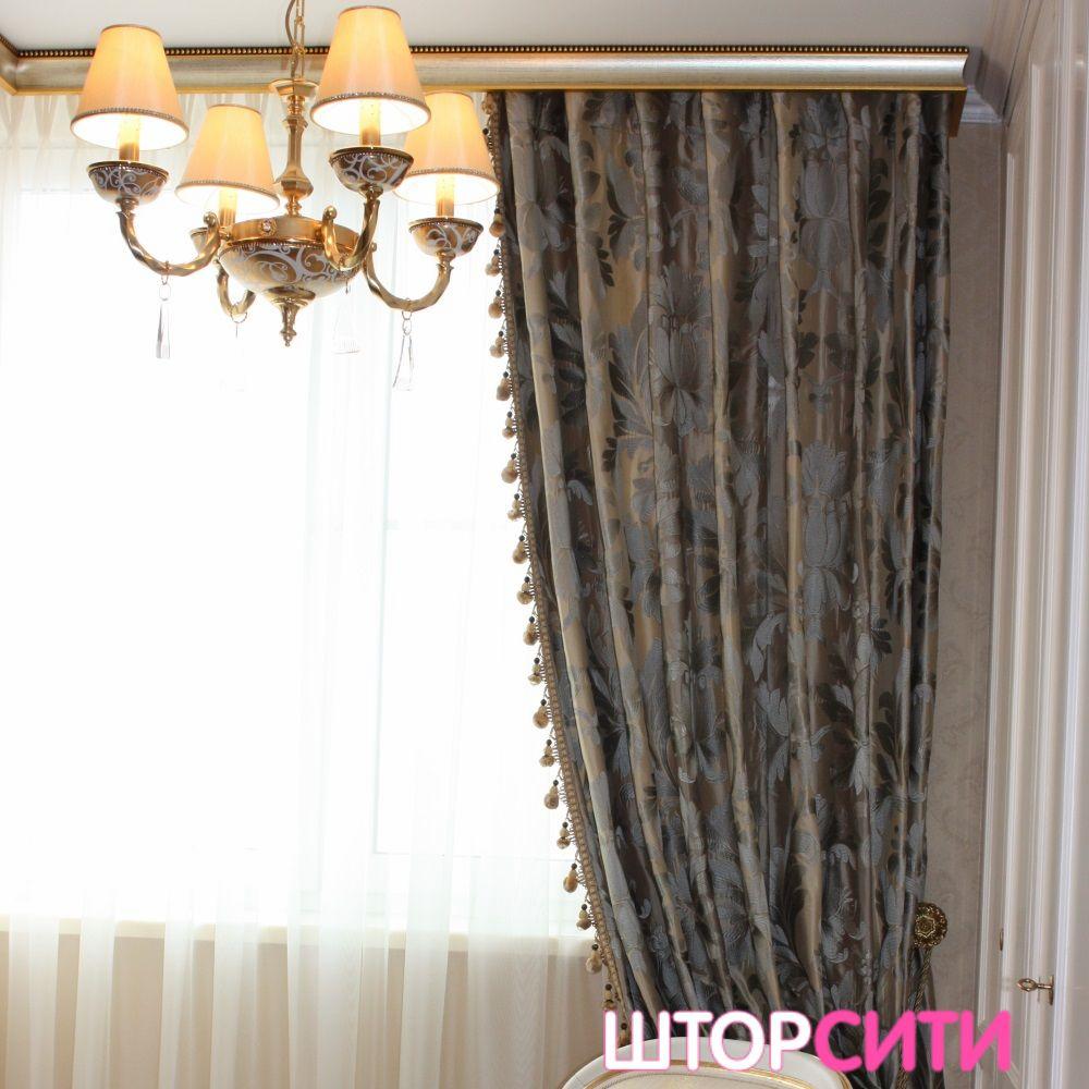 Классические шторы для спальни. Пошив штор в ателье Штор Сити
