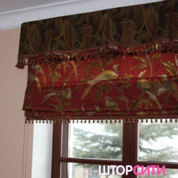 Яркая римская штора для гостиной. Пошив штор в ателье Штор Сити