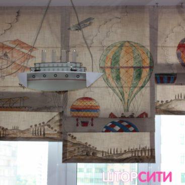 Римские шторы для детской. Пошив штор в ателье Штор Сити