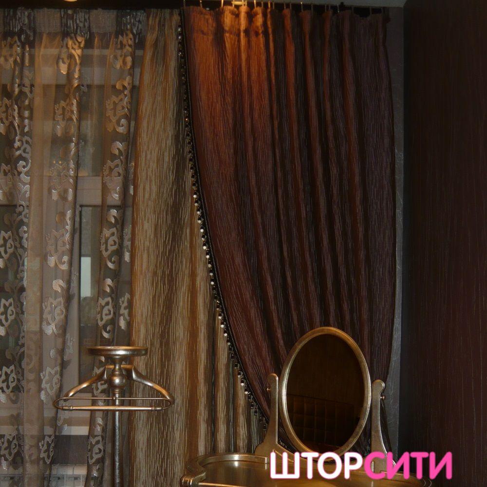 Роскошные портьеры для гостиной. Пошив штор в ателье Штор Сити
