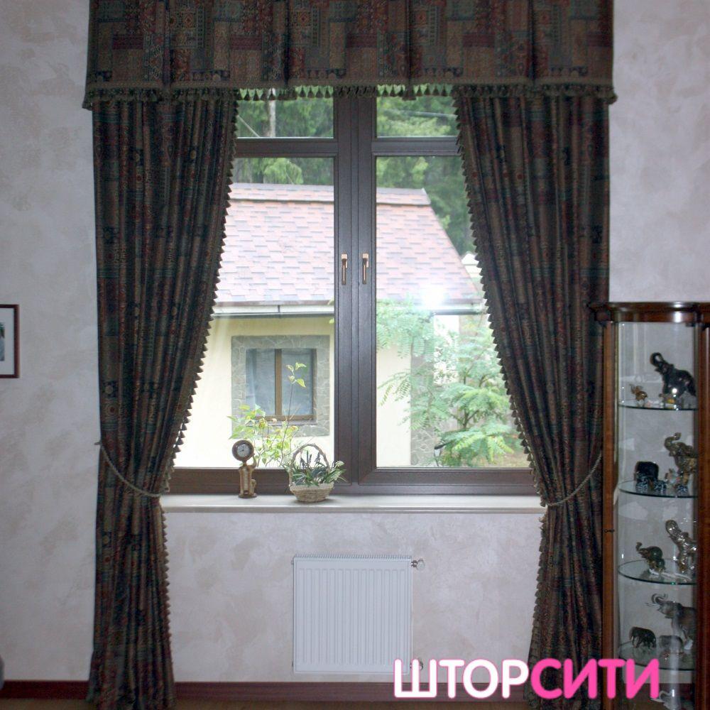 Классические шторы для гостиной. Пошив штор в ателье Штор Сити