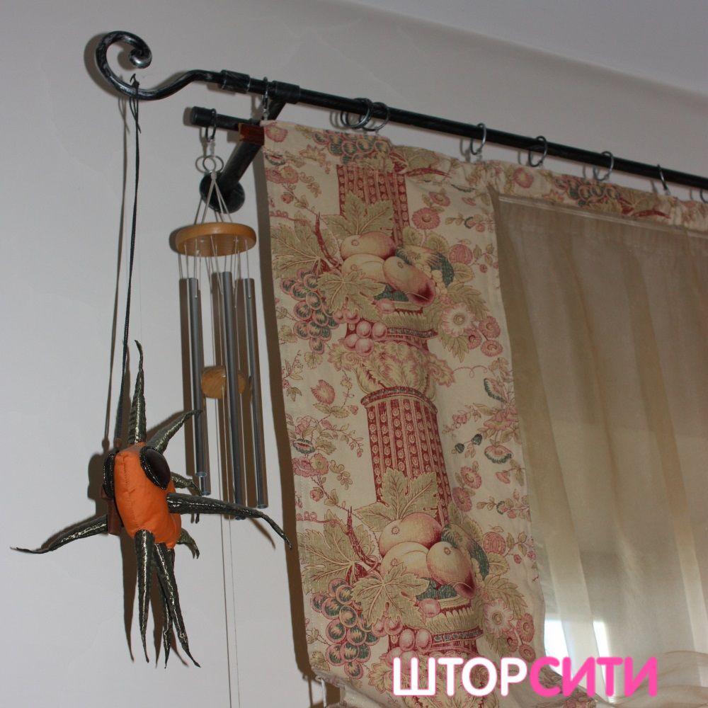 Австрийские шторы для гостиной. Пошив штор в ателье Штор Сити