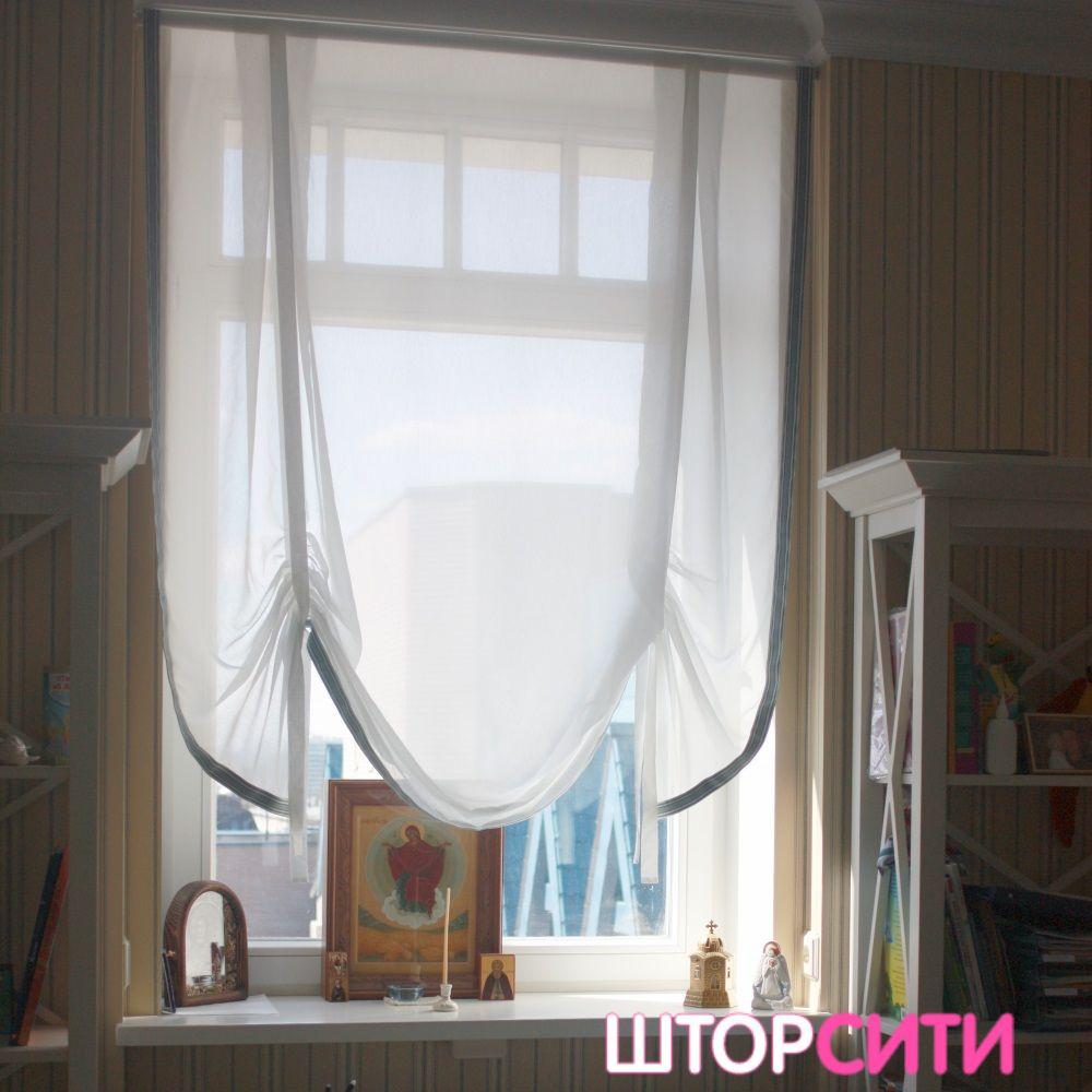 Австрийская штора для кабинета. Пошив штор в ателье Штор Сити