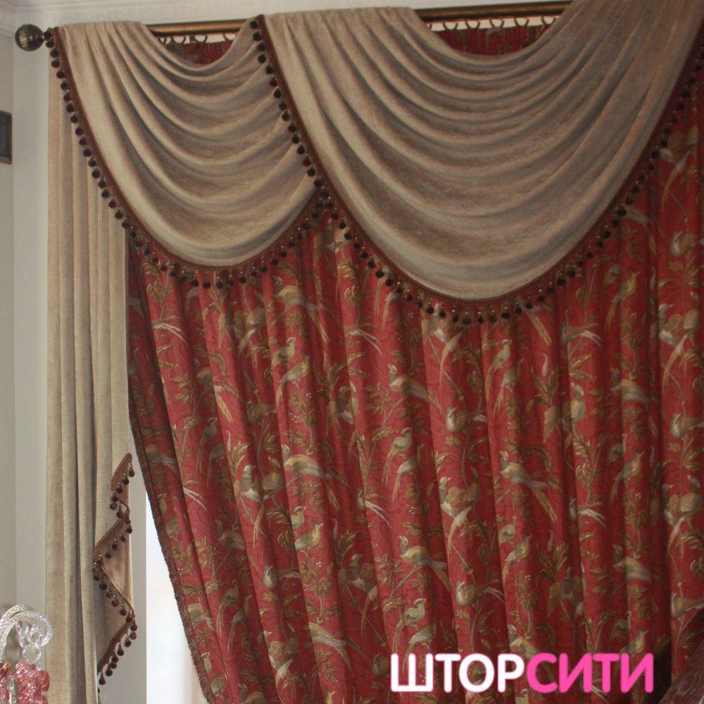 Портьеры для загородного дома. Пошив штор в ателье Штор Сити